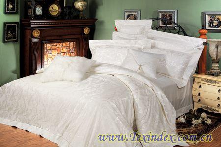 仙合家纺床上用品-白色丽人产品图片展示