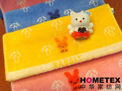 孚日家纺刺绣童巾产品图片展示