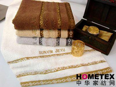 素缎刺绣毛巾