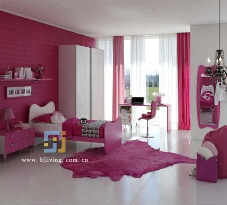 粉红梦幻到了极限的可爱公主房