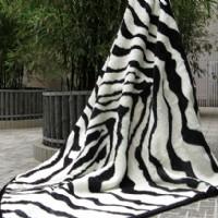 紫罗兰家纺毛毯(斑马纹)产品图片展示