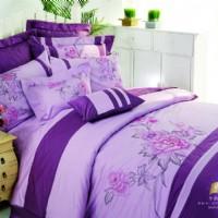 蓝丝羽家纺紫韵飘香八件套产品图片展示