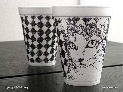diy个性设计 咖啡杯上的艺术