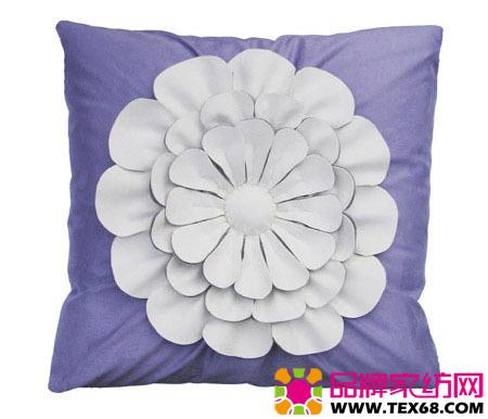手工圆枕头的花样图案