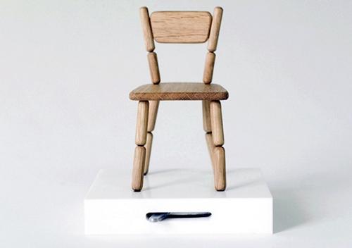 创意家具 木制串珠穿线木偶椅