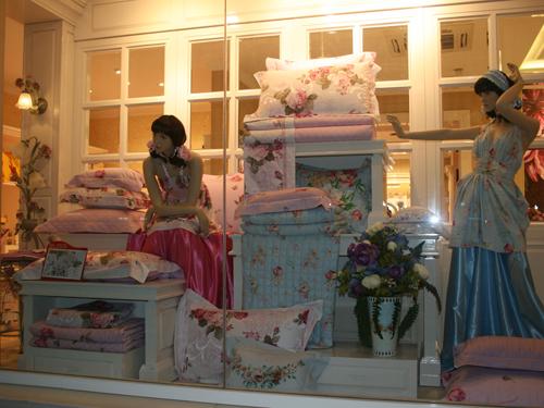 百丽丝家纺 专卖店效果图,形象图,实拍图,橱窗陈列