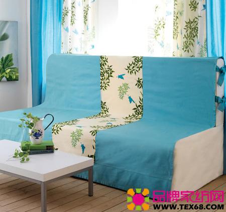 素雅绿色布艺装点居室风景