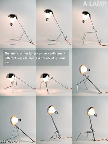 台灯简笔画拟人