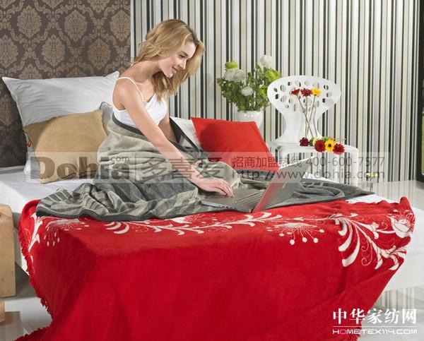 贝尔提花毛毯
