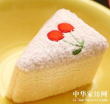 """蛋糕一样""""好吃""""的可爱毛巾"""