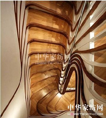 创意家居让人产生错觉的木头楼梯设计