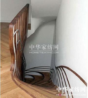 创意家居 让人产生错觉的木头楼梯设计