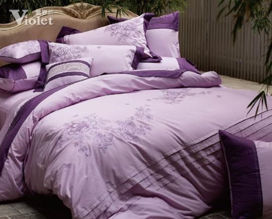 巴黎 紫罗兰/家纺品牌紫罗兰巴黎邂逅,纯棉斜纹面料,精致雅绣。
