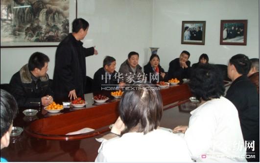 家纺协会名誉会长杨东辉来格芙兰公司考察