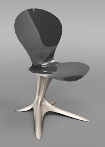 前衛設計 金屬質感的未來風格家具