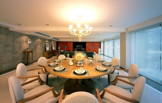 欧式风格餐厅设计 气派十足的用餐氛围