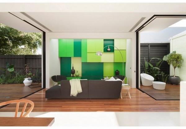 白色与绿色小清新色彩搭配
