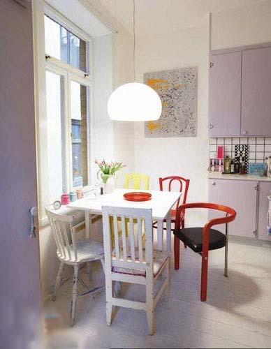 文艺小清新 小户型餐厅设计