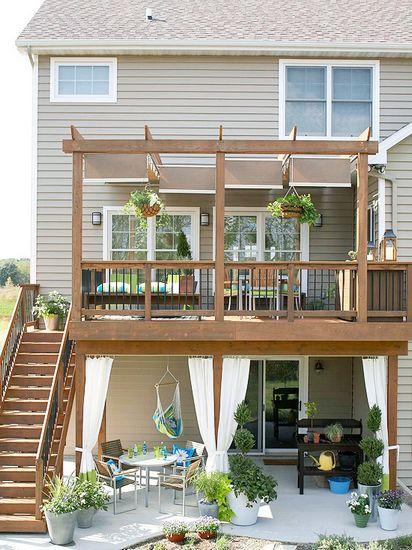 欧式阳台庭院木地板搭配方案(1)
