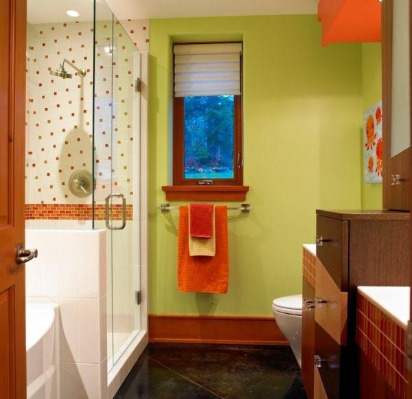 婴儿澡堂设计图-孩子的情绪应该是积极向上的,太时髦的颜色不一定好.   儿童浴室设