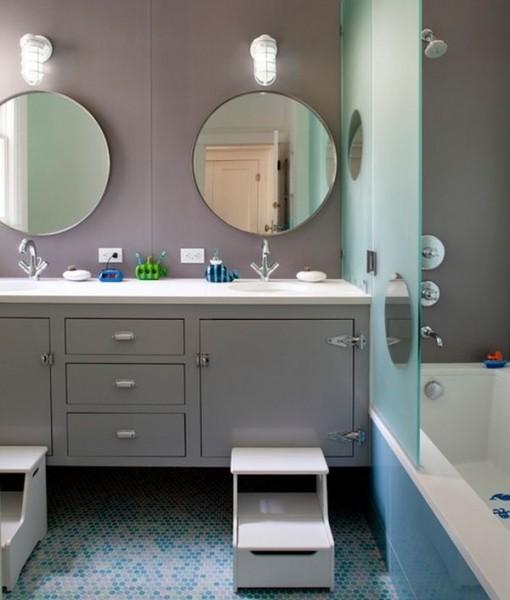 婴儿澡堂设计图-儿童浴室设计为家创造绿洲 1