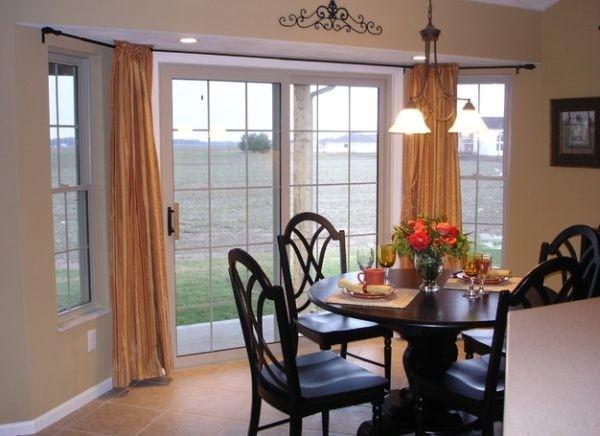 窗帘与玻璃滑门 一道亮丽的风景线(3)