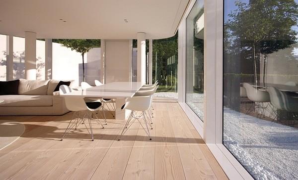 在家居设计和装修的过程中,地板的颜色的选择以及材质的选择非常重要,因为地板是整个家居设计的底色和基础。我们为你带来了北欧家居地板的应用设计,漂亮的木地板发挥着非常重要的作用,让整个家居看起来丝毫不落俗套,在这个宽敞空间里面带给人们平静和风格统一的感觉,而这些地板正是丹麦最大的木地板制造商Dinesen的产品。