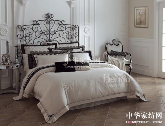 """""""形散神聚""""是现代欧式风格的主要特点,宝缦家纺米兰系列从整体到细节"""