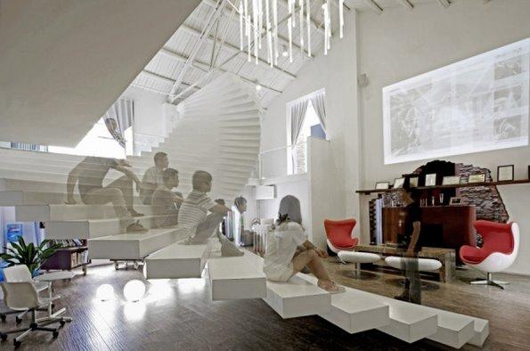老厂房改造成一个现代的富有创意