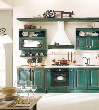 实木橱柜打造温馨田园厨房