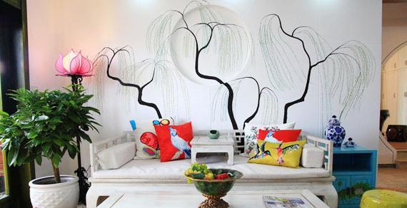 千娇百媚手绘墙 用颜料绘制个性(一)