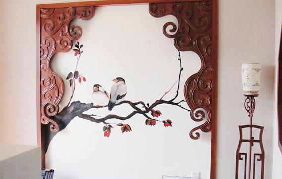 千娇百媚手绘墙用颜料绘制个性(一)