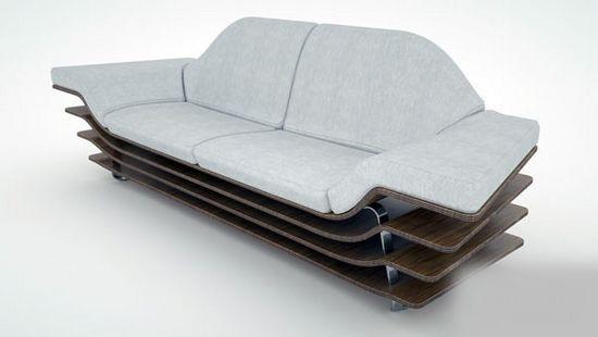 把书籍,杂志或者遥控器扔在里面,而unfolded则更偏向普通的沙发设计.