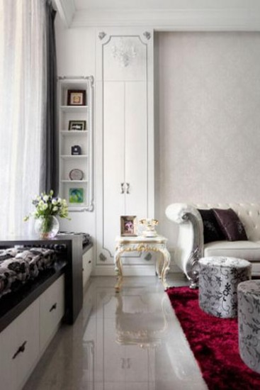 【热家居】欧式风格沙发背景墙效果图大全