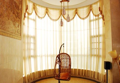弧形欧式窗户窗帘效果图