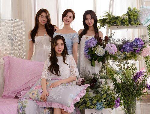 """韩国女子偶像团体""""星星团""""代言百丽丝家纺"""