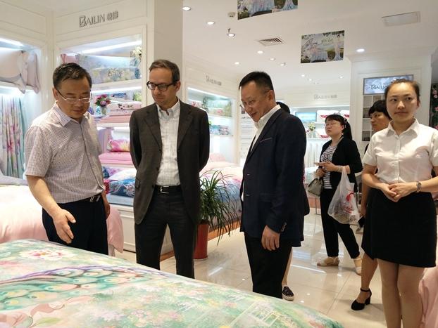 国际纺联秘书长辛德勒参观考察海门工业园区