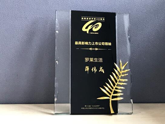 """罗莱生活斩获大众证券杯""""中国上市公司竞争力公信力""""两项殊荣"""