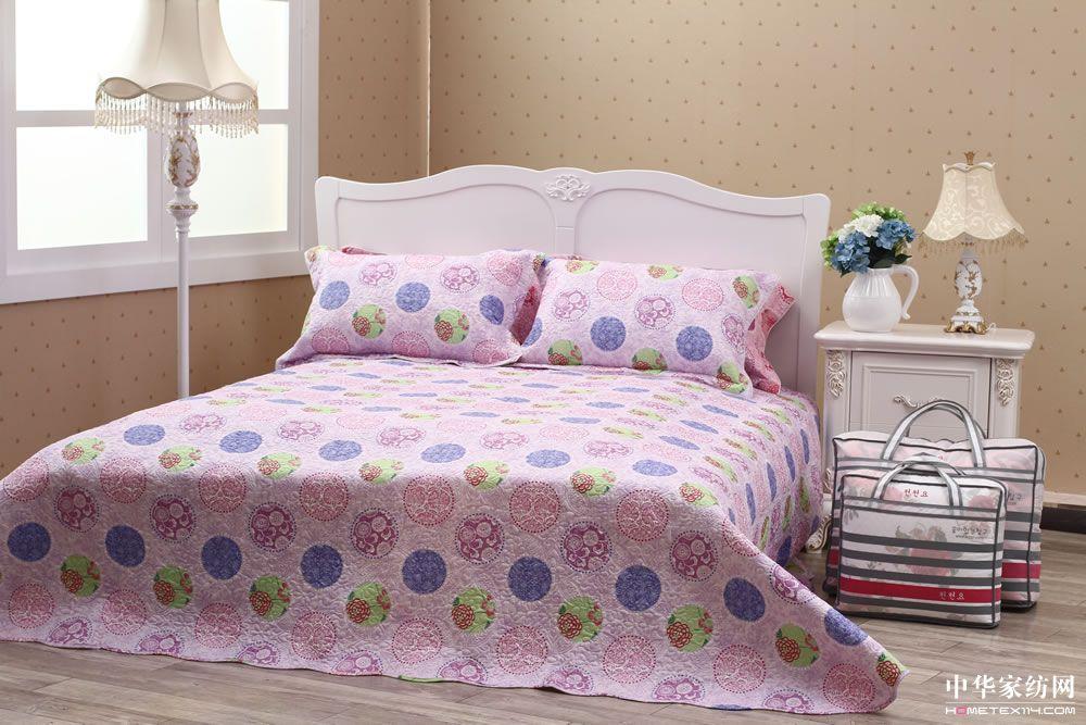 韩式床盖三件套          粉黛佳人-紫