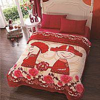 博洋家纺红豆拉舍尔毯 国王产品图片展示