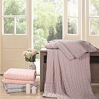 宜庭家纺天丝绗缝毯产品图片展示