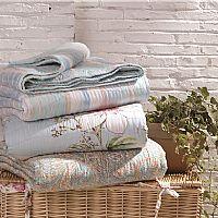 宜庭家纺天丝印花绗缝毯产品图片展示