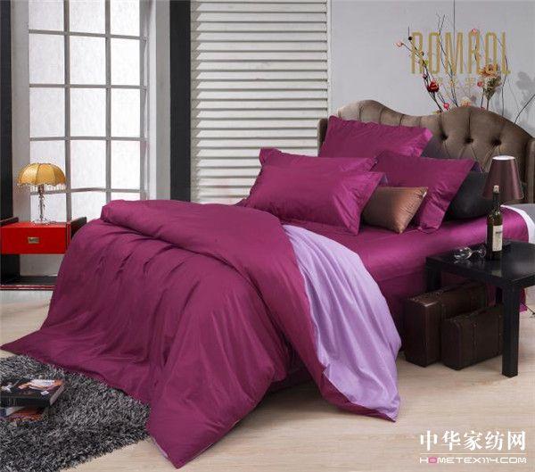 深玫红配浅紫