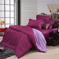 罗曼罗兰家纺深玫红配浅紫产品图片展示