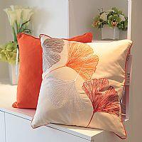 露之熙家纺桔色祝福靠垫产品图片展示