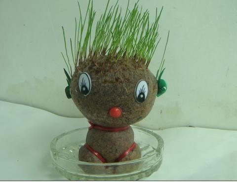 时尚创意 可爱环保草头娃娃图片