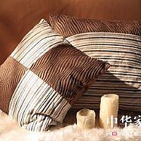 艾莱依家纺咖啡色几何靠垫产品图片展示