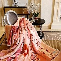 双层拉舍尔剪花毛毯