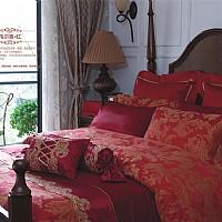 梦洁家纺凡尔赛红产品图片展示