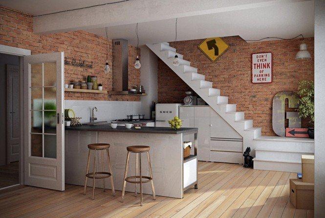 开放式厨房装修效果图赏析